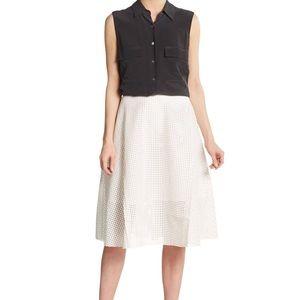 MALANDRINO Faux Leather Midi Flared Skirt size 2